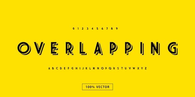 Tipografía moderna superpuesta de fuentes tipográficas