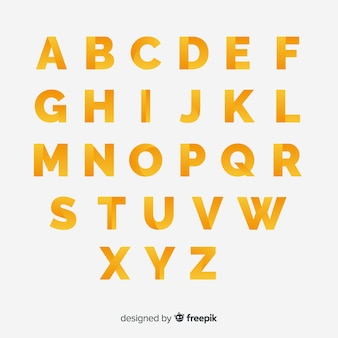 Tipografía monocroma gradiente
