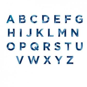 Tipografía poligonal azul