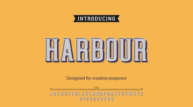 Tipografía de puerto. diseño tipográfico