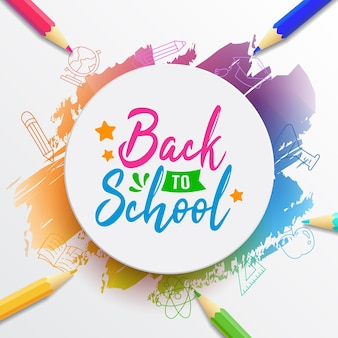 Tipografía de regreso a la escuela