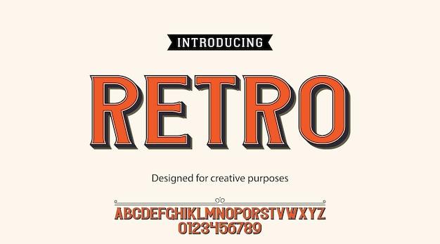 Tipografía retro. para fines creativos