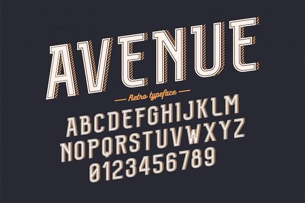 Tipografía retro vintage decorativa