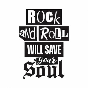 Tipografía de rock y rock