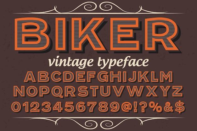 Tipografía tipografía diseño motorista