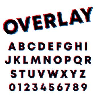 Tipografía tipográfica diseño de superposición