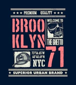 Tipografía urbana vintage con calavera