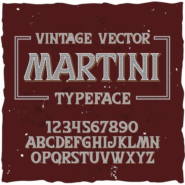 Tipografía de vector vintage