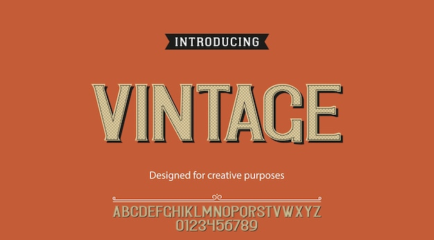 Tipografía vintage diseño tipográfico