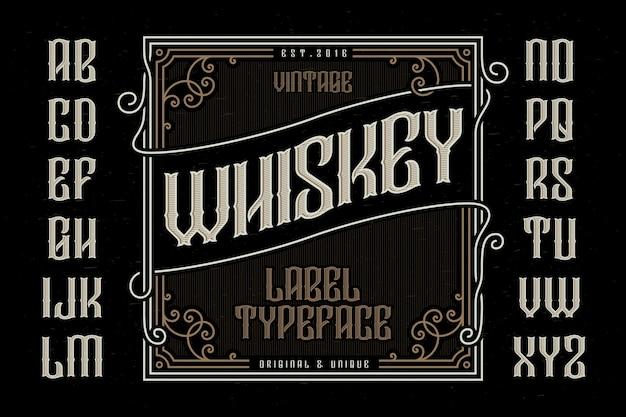 Tipografía vintage con etiqueta decorativa