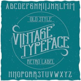 Tipografía vintage llamada vintage