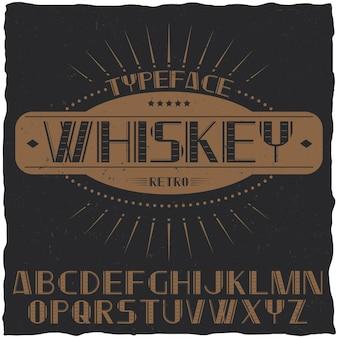Tipografía vintage llamada whisky