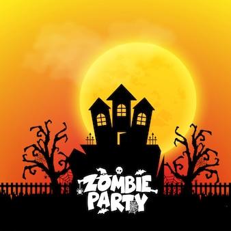 Tipografía zombie party con vector de diseño creativo
