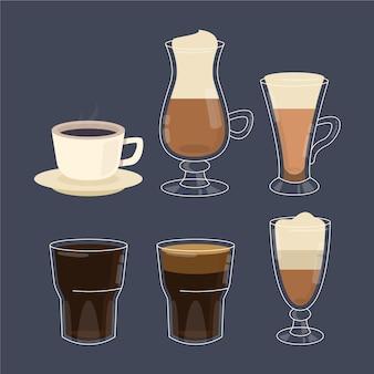 Tipos de paquete de café