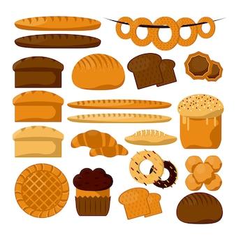 Tipos de productos de panadería o pastelería.