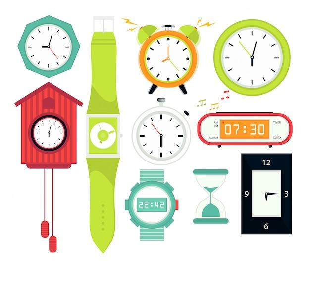 Tipos de relojes de alarma, digitales.