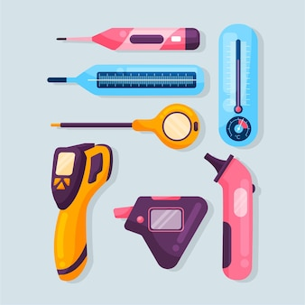 Tipos de termómetros de diseño plano