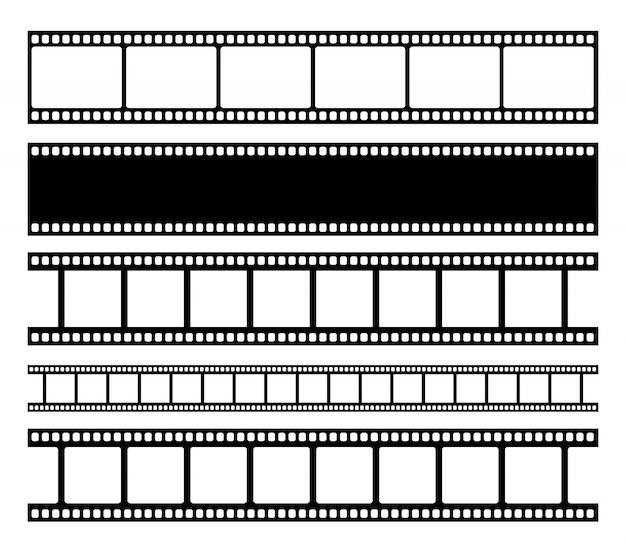 Tira de película de cine en blanco.