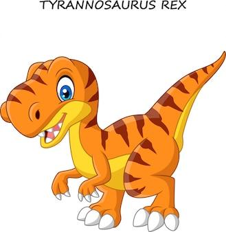 Tiranosaurio divertido de dibujos animados