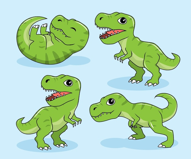 Tiranosaurus rex dinosaurios de dibujos animados t-rex