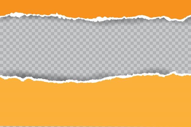 Tiras de papel rasgadas realistas