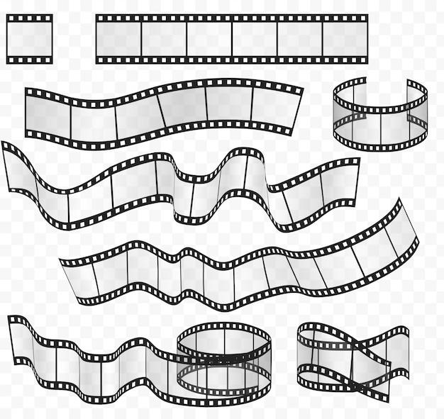 Tiras de película rollos set