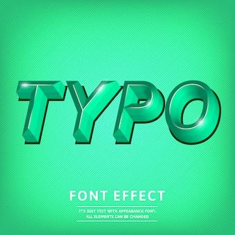 Título de efecto de texto de tipo de letra 3d