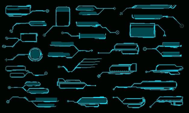 Títulos de llamada de hud, cuadros de llamada de vector de información