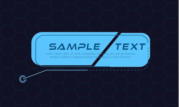 Títulos de rótulos digitales conjunto de marco de ciencia ficción futurista de hud banners modernos del tercio inferior