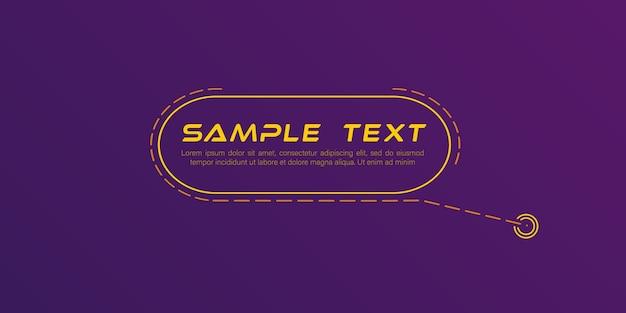 Títulos de rótulos digitales conjunto de plantilla de marco de ciencia ficción futurista de hud elemento de diseño para infografías de folletos web banners modernos de tercio inferior para presentación aislado en amarillo vector