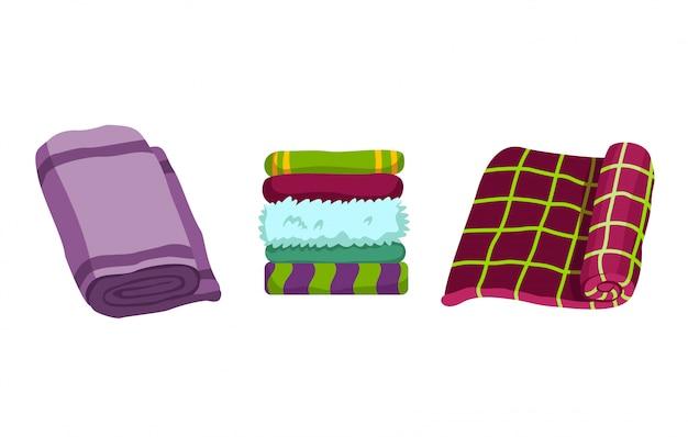 Toalla de baño. conjunto de toallas de dibujos animados. toalla de tela para baño, ilustración de toalla de tela de dibujos animados para higiene