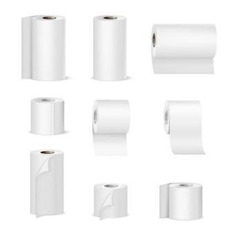 Toallas de papel rollos de papel higiénico realista