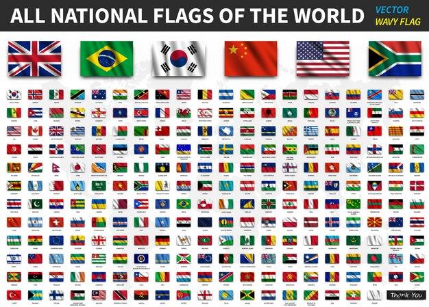 Iconos de banderas de paises hispanohablantes