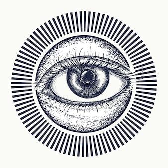 Todo el ojo viendo tatuaje.