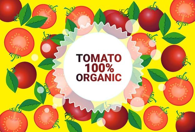 Tomate vegetal colorido círculo copia espacio orgánico sobre vegetales frescos patrón fondo estilo de vida saludable o concepto de dieta