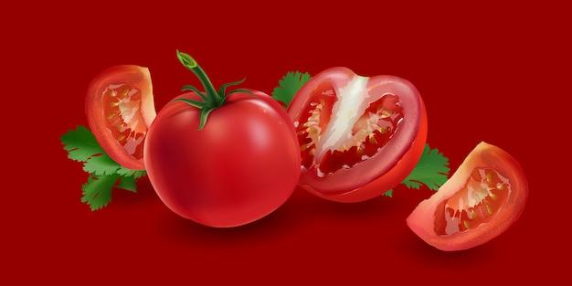 Tomates enteros y en rodajas