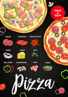 Tomates de ingredientes de pizza
