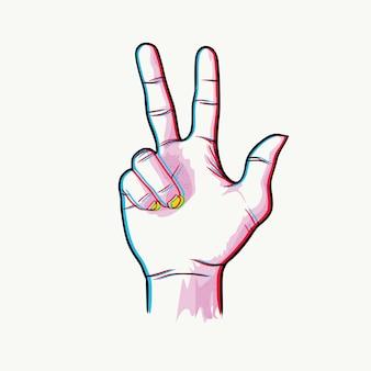 Tono doble mano número tres