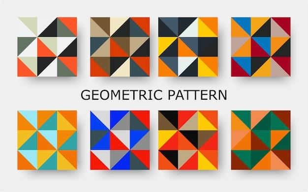 Tono naranja retro diferentes patrones sin fisuras vector mosaico textura sin fin para papel tapiz