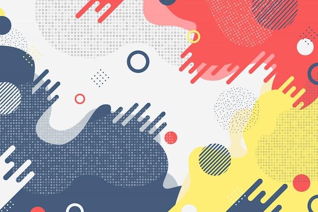 Tono de negocio colorido abstracto de decoración de formas de color mínimo.