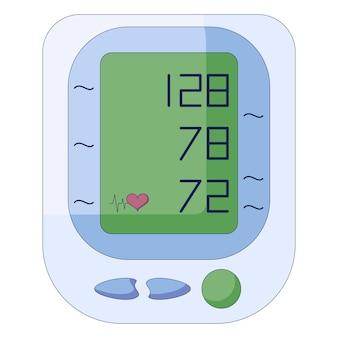 Tonómetro médico monitor de presión arterial electrónico esfigmomanómetro digital en un estilo plano