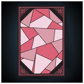 Tonos de póster holográfico futurista holográfico geométrico con malla de degradado