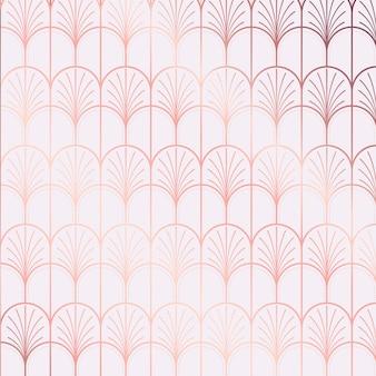 Tonos de reflexión de degradado de patrón art deco