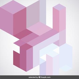 Tonos rosados abstracción geométrica