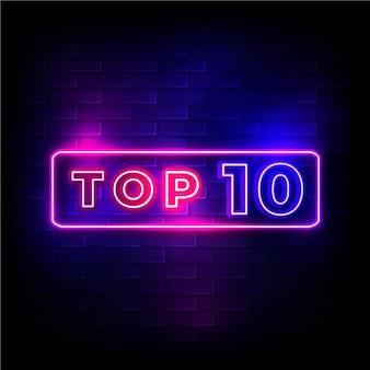 Top 10 de neón