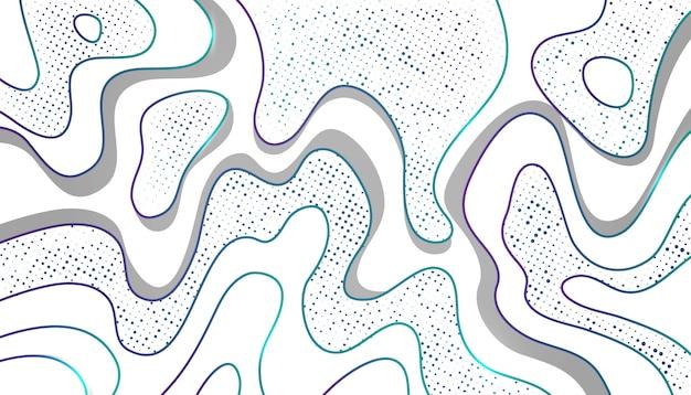 Topografía con patrón de medios tonos