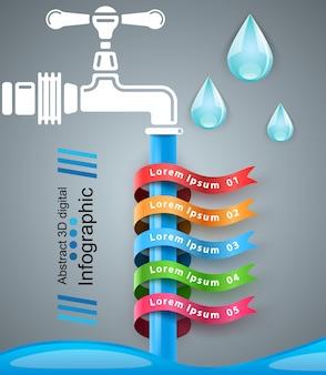 Toque infografía plantilla de diseño y los iconos de marketing.