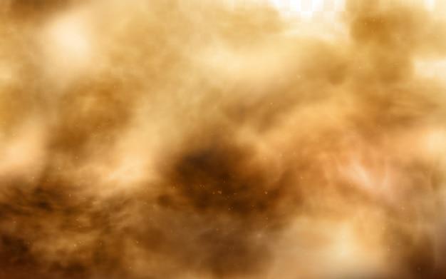 Tormenta de arena del desierto, nube de polvo marrón en transparente