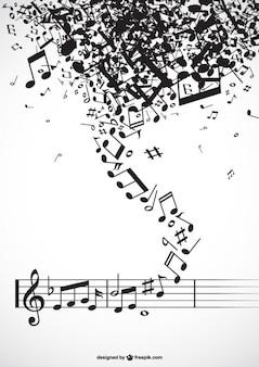 Tornado de notas musicales