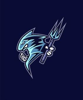 Tornado trident sports logo